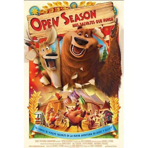 In Open Season, the odd are about to get even. Boog (Martin Lawrence), a domesticated grizzly bear with no survival skills, has his perfect world turned upside down when he meets Elliot (Ashton Kutcher) a scrawny, fast talking mule deer. When Elliot convinces Boog to leave his cushy home in a park ranger's garage to try a taste of the great outdoors, things quickly spiral out of control. Relocated to the forest with open season only three days away, Boog and Elliot must acclimate in a hurry. They must join forces to unite the woodland creatures and take the forest back. Features:.Actors: Ashton Kutcher, Martin Lawrence, Debra Messing, Gary Sinise, Billy Connolly. Format: AC-3, Animated, Closed-captioned, Color, Dolby, Dubbed, DVD, Special E