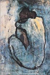 Blue Nude Poster Print by Pablo Picasso (24 x 36) TELAP626