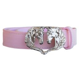 WOW WB90130 30 in. Ladies Belt Double Horse Head Buckle, Pink