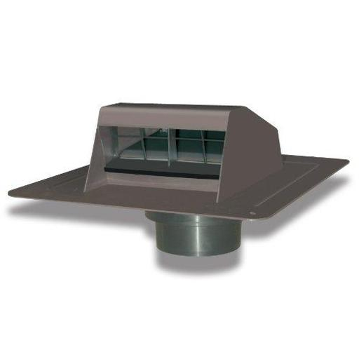 Duraflo 6013br Roof Dryer Vent With Flapper And Attached Collar, Brown