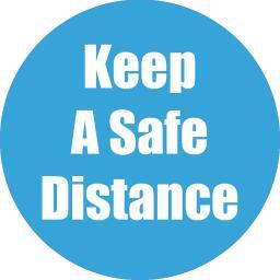 Flipside products keep a safe distance cyan anti-slip