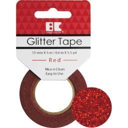 Best Creation Glitter Tape 15mmX5m Red