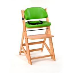Keekaroo 0055203KR-0002 Height Right KIDS Chair Natural with Lime Comfort Cushions