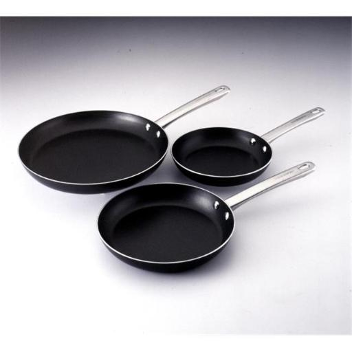 Farberware 20065 Three Piece Set- 8-Inch 10-Inch and 12-Inch Skillets Gray