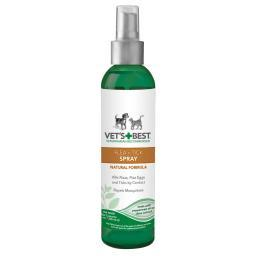Vet'S Best 3165810346 Green Vet'S Best Pet Natural Flea And Tick Spray 8Oz Green 1.75 X 1.75 X 7.88
