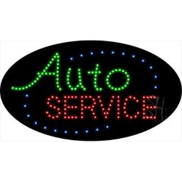 Sign Store L100-1907 Auto Service Animated LED Sign, 27 x 15 x 1 In.
