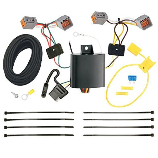 Trailer Wiring Connector Kit T-One Connector Assembly With Upgraded Circuit Protected Modulite ® Hd Module
