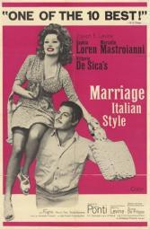 Marriage Italian Style Movie Poster (11 x 17) MOV209137