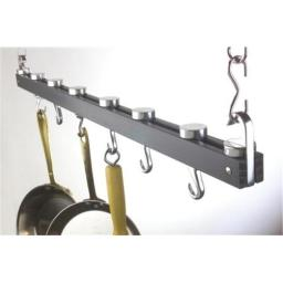 Concept Housewares PR-40215 36 Inch Ceiling Rack Anthracite Grey Pot Rack