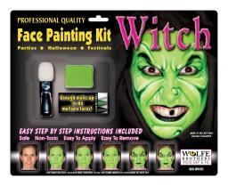 Witch Makeup Kit Wolfe Bothers WFWH01