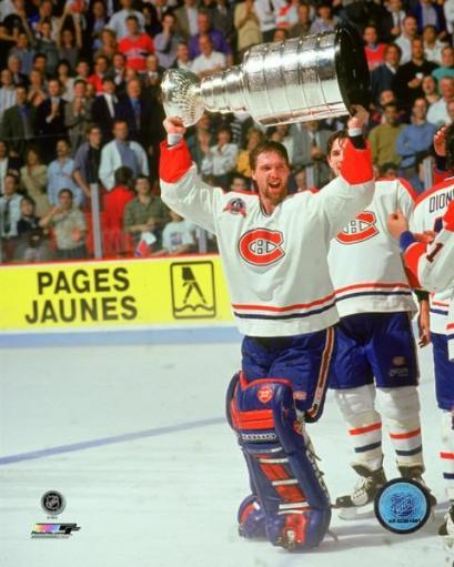 Patrick Roy with the 1993 Stanley Cup Championship Trophy Photo Print 1VDY0CNTLTFRLFVU