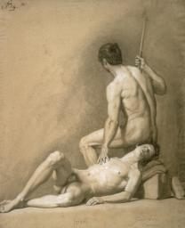 Two Manly Nudes Poster Print EVCMOND075VJ023H