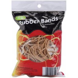 A&W Office Supplies 35070 Rubber Bands .25 Pound
