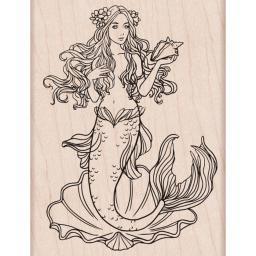 "Hero Arts Mounted Rubber Stamp 4""X2.875"" Mermaid"