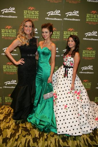 Korie Robertson, Sadie Robertson, Bella Robertson At Arrivals For Duck Dynasty The Musical Opening Night, Masquerade Stage At Rio All-Suite Hotel.