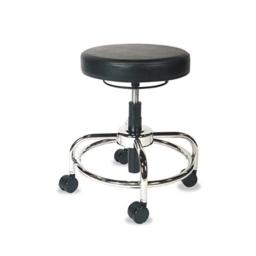 Aap CS614 HL Series Height-Adjustable Utility Stool, Black