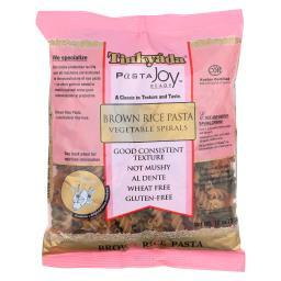 Tinkyada Brown Rice Pasta - Vegetable Spiral - Case of 12 - 12 oz.