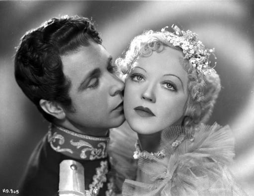 Marion Davies Kissed By A Man in Prince Outfit in Black and White Photo Print C6CBHNAXA82B0RTQ