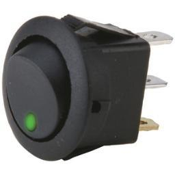 Install Bay Ibrrsg On/Off 20-Amp Round Rocker Led Switches Without Leads, 5 Pk (Green)