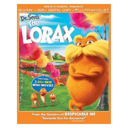 Lorax blu ray/dvd combo w/digital copy BR61120933