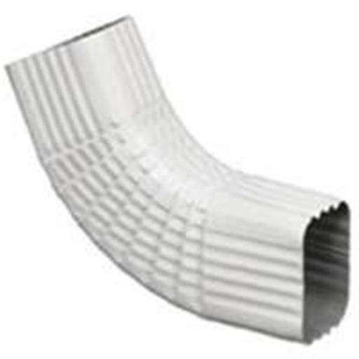 27065 Aluminum Gutter Elbow - White