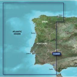 Garmin Bluechart G2 Hxeu009R  Portugal & Northwest Spain  010-C0767-20
