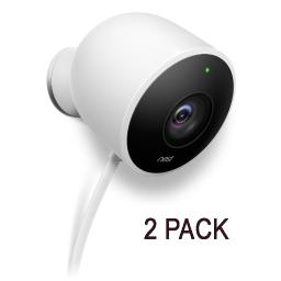 2-Pack Nest Cam Outdoor 1080p HD Video Home Security Camera NC2100ES - White