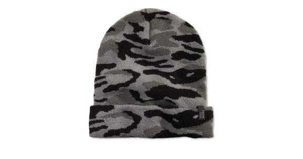 Steve Madden Mens Knit Camo Beanie Hat