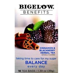 Bigelow 287574 1.39 oz Cinnamn & Blackberry Tea, 18 Bag - Pack of 6