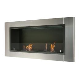 Ignis WMF-022G Lata Recessed Ventless Ethanol Fireplace with Glass