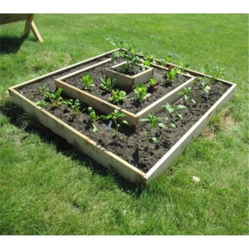Infinite Cedar Multi-Level Raised Garden Bed Kit, Wood