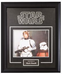 Star Wars - Luke Skywalker Signed Movie Photo - Framed Artist Series