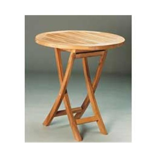 Anderson Teak TBF-027R 27 Inch Round Bistro Folding Table