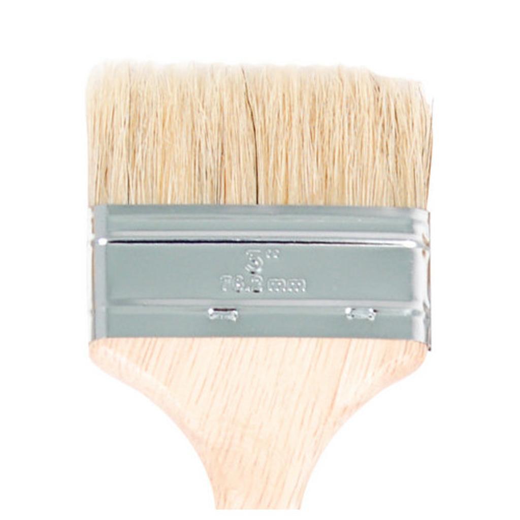 Chip brush / cca sales 1030 white bristle utility chip brush 3 inch