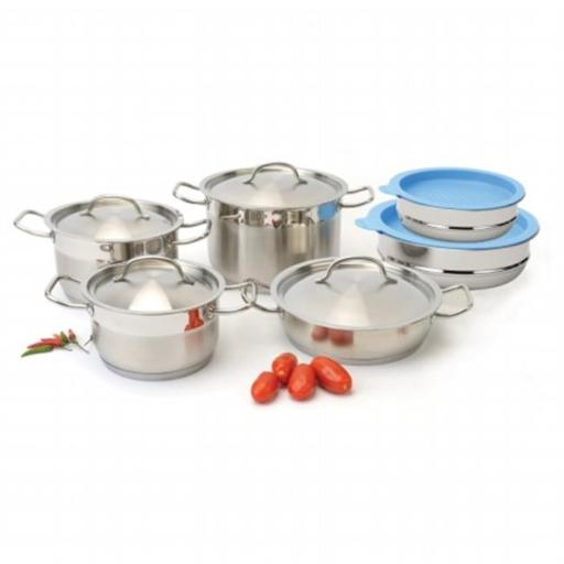 BergHOFF 1111003 Hotel Line cookware Set With Mixing Bowls - 12 Pieces