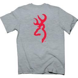 Browning brc1793001xxl bg men's t-shirt red buckmark xx-large heather gray<