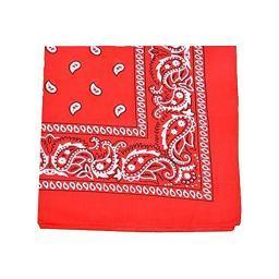 Uni Style Apparel Paisley 100% Cotton XL Bandana, head wrap, 27 inches - 24 Pack