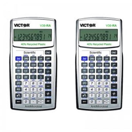 Victor Technology VCTV30RABN Ten Digit Scientific Calculator with Antimicrob Protection - 2 Each