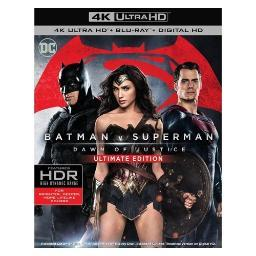 Batman v superman-dawn of justice (blu-ray/4k-uhd-mastered/2 disc) BR596797