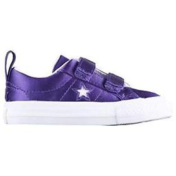 Converse One Star 2V OX Court Shoes Purple/White White Size 5 Toddler