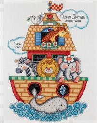 Noah's Ark Birth Record Counted Cross Stitch Kit T21718