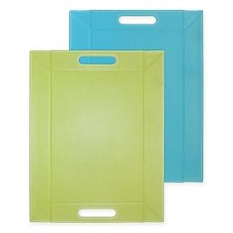Freeform FFM0203 Convertible Tray & Placemat Reversible, Turquoise & Green- Medium - 18 x14 in.