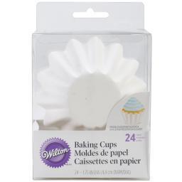 Wave Standard Baking Cups-White 24/Pkg 415-0670