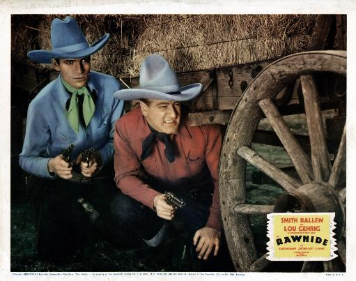 Rawhide From Left Smith Ballew Lou Gehrig 1938 Movie Poster Masterprint