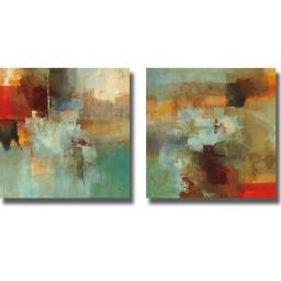 Artistic Home Gallery 3030514S Big City I And Ii By Randy Hibberd 2 Piece Premium Stretched Canvas Wall Art Set 3030514S