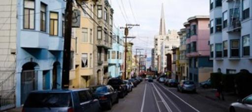 Cars parked on the street, Transamerica Pyramid, Washington Street, San Francisco, California, USA Poster Print by Panoramic Images (36 x 17)