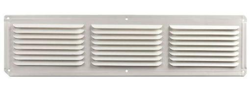 L L Building Products Eac16x8w Aluminum Undereve Vent, White, 16