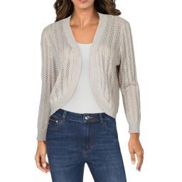 Cyrus Womens Knit Crochet Cardigan Sweater