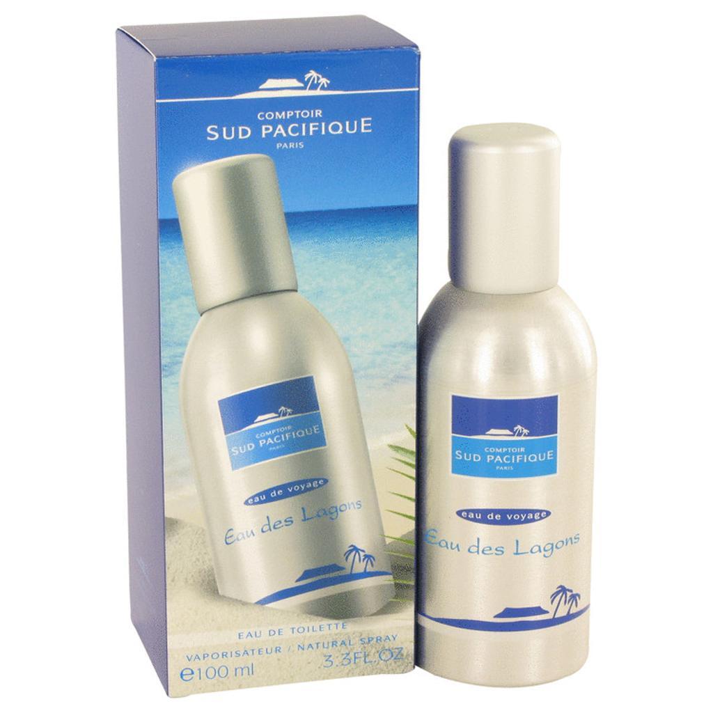 COMPTOIR SUD PACIFIQUE Eau Des Lagons by COMPTOIR SUD PACIFIQUE Eau De Toilette Spray 3.3 oz for Women (Package of 2)