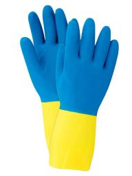 Soft Scrub Latex Chemical Resistant Gloves S Blue 1 pair - Case Of: 1; Each Pack Qty: 2; Total Items Qty: 2